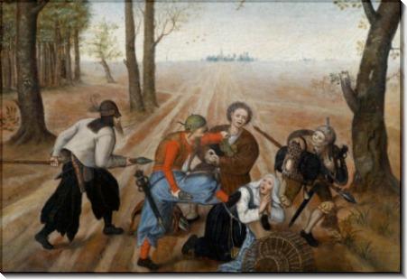 Нападение на крестьян - Брейгель, Питер (Младший)