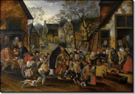 Старый шарманщик и дети - Брейгель, Питер (Младший)