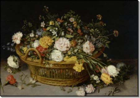 Корзина с цветами - Брейгель, Ян (младший)