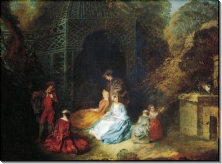 Флейтист - Ватто, Жан Антуан