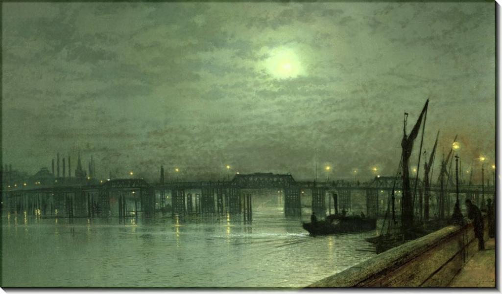 Мост Баттерси в лунную ночь - Гримшоу, Джон Аткинсон