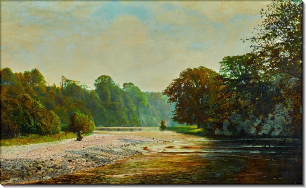 Пейзаж близ болтонского аббатства - Гримшоу, Джон Аткинсон