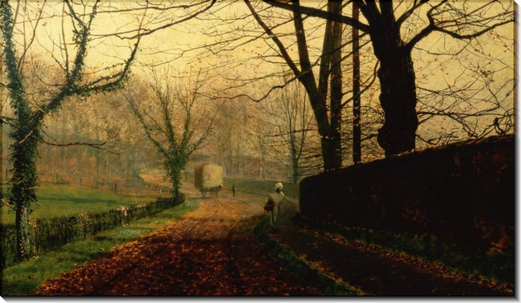 Осеннее солнце, парк Степлтон близ Понтефракта - Гримшоу, Джон Аткинсон