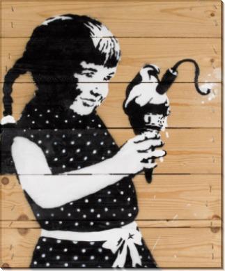 Девочка с мороженым-бомбой - Бэнкси