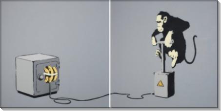 Обезьяна с детонатором - Бэнкси