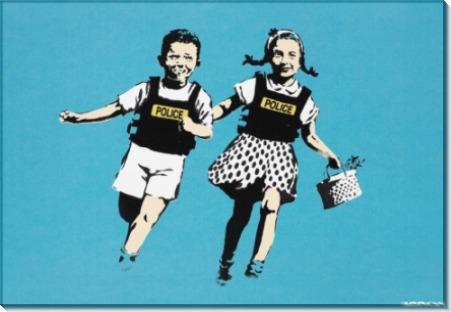Джек и Джил (Дети-полицейские) - Бэнкси