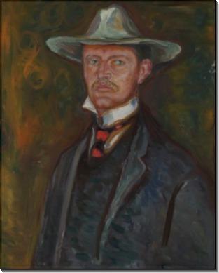 Автопортрет в широкополой шляпе - Мунк, Эдвард