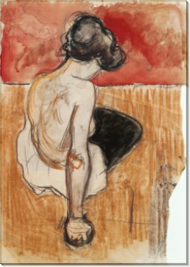 Сидящая натурщица - Мунк, Эдвард