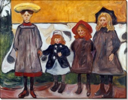Четыре девочки из Осгордстранда - Мунк, Эдвард