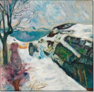 Зимний пейзаж близ Крагерё - Мунк, Эдвард