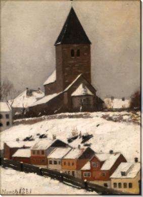 Старая церковь в Акере - Мунк, Эдвард