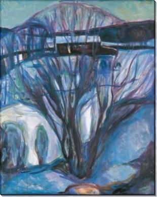 Зимняя ночь - Мунк, Эдвард