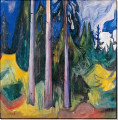 Лесной пейзаж - Мунк, Эдвард