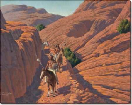 Горная тропа с индейцами - Сарноф, Артур