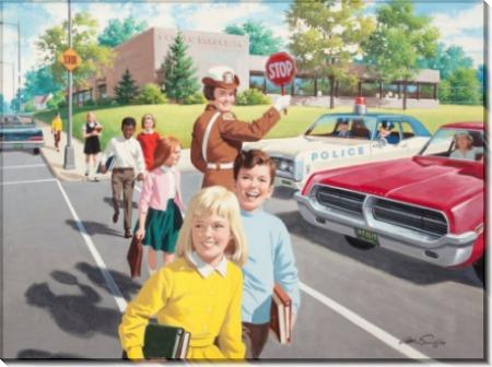 Помощь детям на пешеходном переходе - Сарноф, Артур