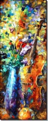 Цветы и скрипка - Афремов, Леонид (20 век)
