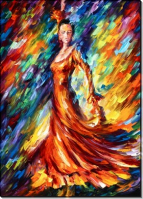 Оранжевое платье - Афремов, Леонид (20 век)