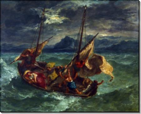 Христос в Галилейском море - Делакруа, Эжен