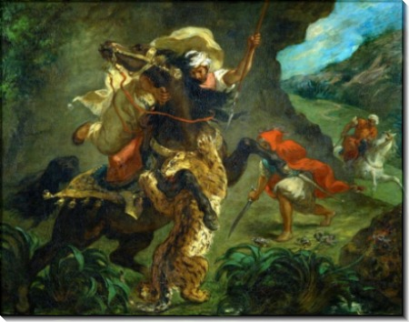 Охота на тигра - Делакруа, Эжен