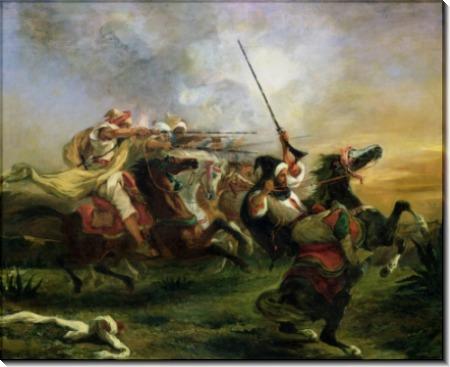 Атака арабской конницы - Делакруа, Эжен
