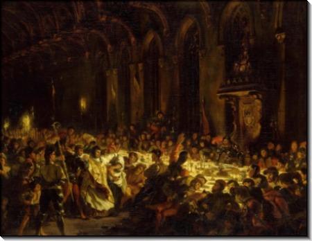 Убийство льежского епископа - Делакруа, Эжен