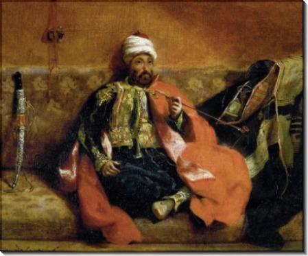 Турок, курящий на диване - Делакруа, Эжен