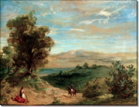 Марокканский пейзаж - Делакруа, Эжен