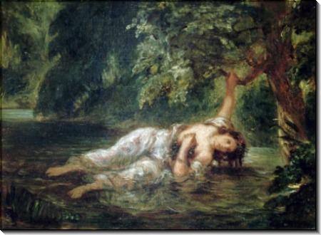 Смерть Офелии (по трагедии Уильяма Шекспира «Гамлет») - Делакруа, Эжен