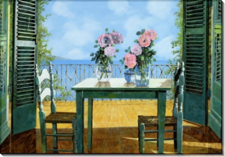 Розы и балкон - Борелли, Гвидо (20 век)