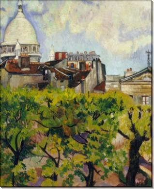Вид на базилику Сакре-Кёр со стороны садов улицы Корто - Валадон, Сюзанна