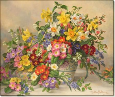 Весенние цветы в керамической вазе - Вильямс, Альберт