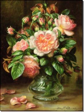 Английские розы в стеклянной вазе - Вильямс, Альберт