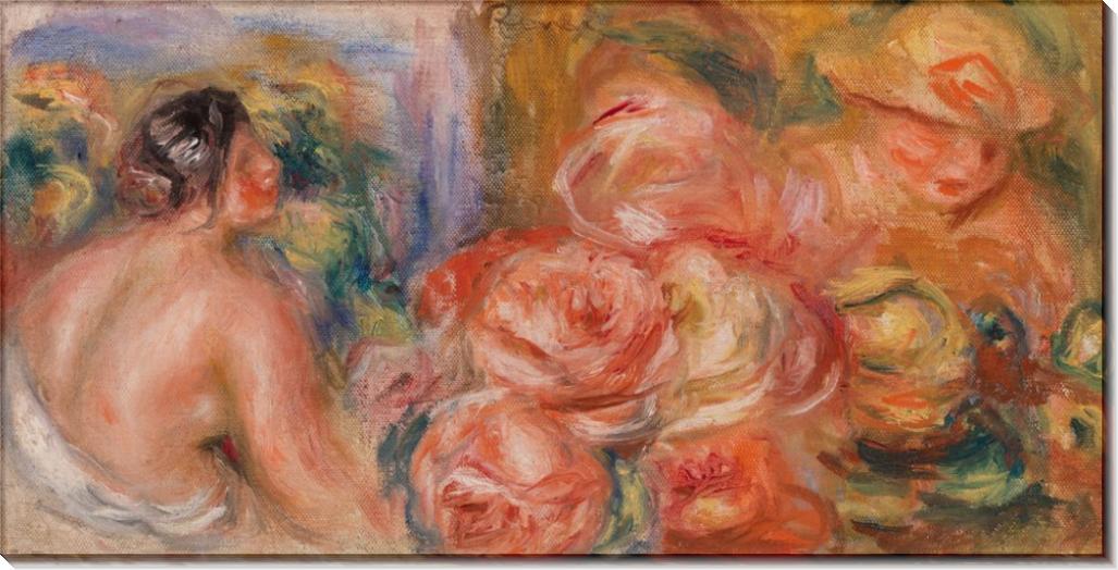 Обнаженная и розы - Ренуар, Пьер Огюст