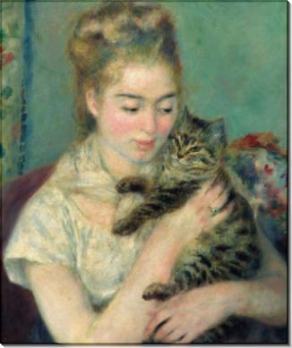 Женщина с котом - Ренуар, Пьер Огюст