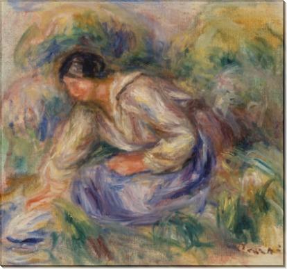 Женщина в голубой юбке - Ренуар, Пьер Огюст