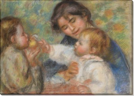 Габриэль, Жан Ренуар и маленькая девочка - Ренуар, Пьер Огюст