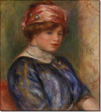 Женщина в синей блузе - Ренуар, Пьер Огюст