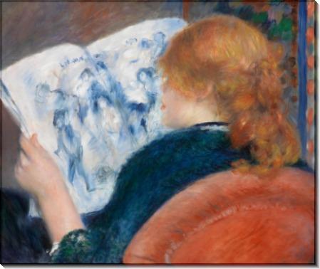 Женщина, читающая журнал - Ренуар, Пьер Огюст