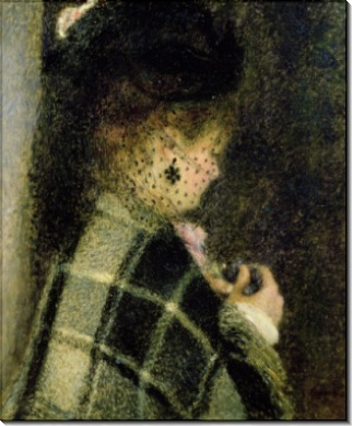 Женщина с вуалью - Ренуар, Пьер Огюст