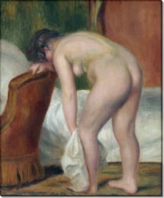 Обнаженная купальщица, вытирающая ноги - Ренуар, Пьер Огюст