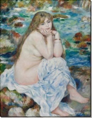 Сидящая купальщица - Ренуар, Пьер Огюст