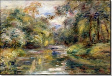 Пейзаж с речкой - Ренуар, Пьер Огюст
