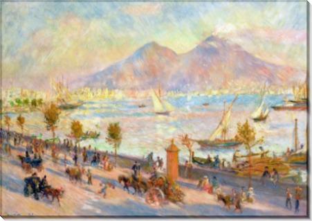 Вид на Неаполитанский залив с Везувием - Ренуар, Пьер Огюст