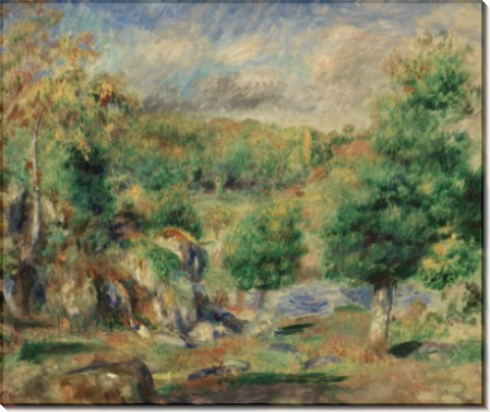 Каштановые деревья в Понт-Авене - Ренуар, Пьер Огюст