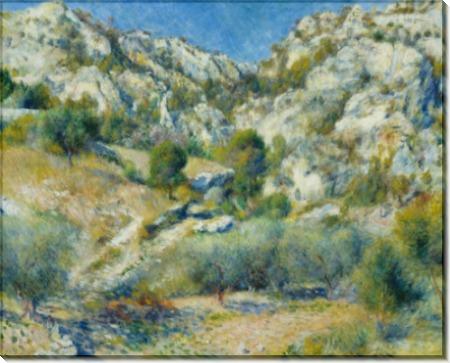 Скалистые горы в Эстаке - Ренуар, Пьер Огюст