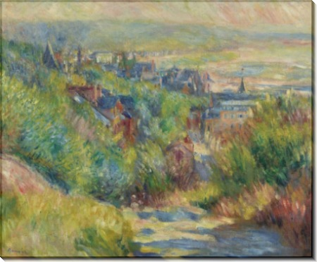 Холмистый пейзаж с видом на Трувиль - Ренуар, Пьер Огюст