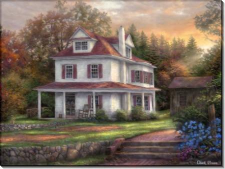 Сельский дом с каменной террасой - Пинсон, Чак (20 век)