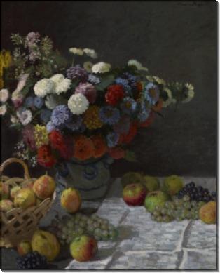 Цветы и фрукты - Моне, Клод