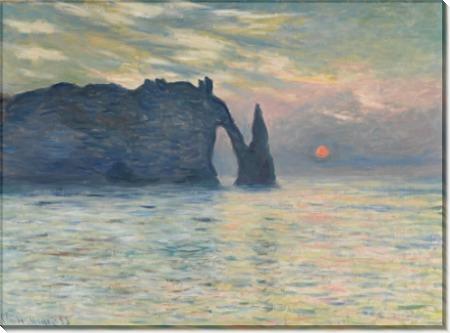 Скалы в Этрета, закат - Моне, Клод