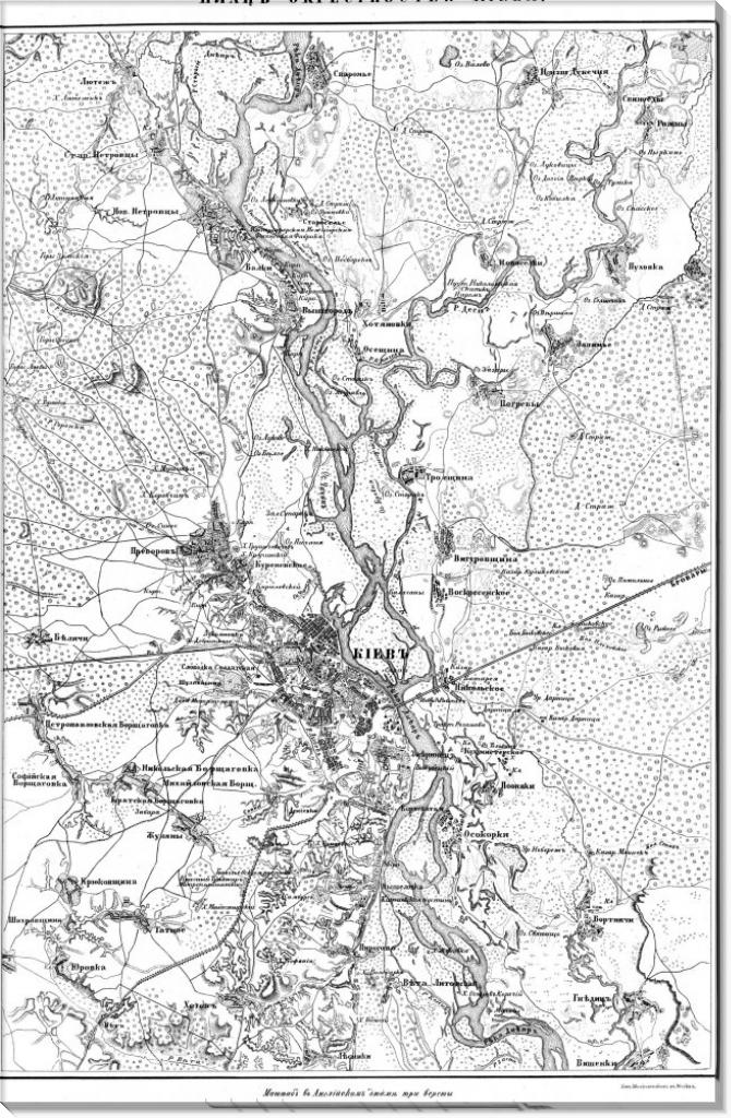 Карта Киева. 1850